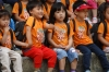 School children watch the Fusion B-Boy Dance, Korean Folk Village