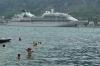 Cruise boat leaving Kotor