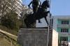 Statue of Gjergi Kastrioti Skanderbeg 'father of Albania', Krujë AL