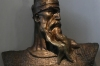 Bust of Skanderbeg (Bronze 1939). The story of Gjergi Kastrioti Skanderbeg 'father of Albania' at Krujë Castle AL