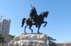The national hero George Castriota Skanderbeg (1405-1468), Tiranë AL
