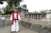 Samuri swordsman, Kumamoto Castle, Japan