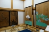 Cedar door paintings - old and new, Kumamoto Castle Honmaru Goten Palace, Japan