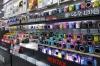 What colour Pentax camera do you want? Yodabashi store, Kyoto, Japan