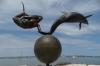 Sculptures along the Malecon, La Paz