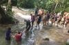 The climb up Ocho Rios waterfall JM