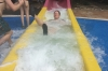 Steph tries the waterslide at Ocho Rios JM