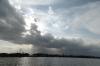 Dramatic sky on Lake Naivasha, Kenya