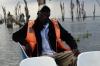 Our boat guide, Peter on Lake Naivasha, Kenya