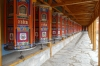 Part of the 7km of prayer wheels at the Labrang Monastery, Xaihe, Tibet