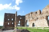 Ruins of an old castle Ludza with lake LV