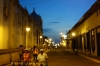 Ice cream vendors heading home after a hot day in Leon