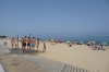 Badalona Beach on ahot summer's day