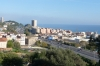 Our view from the hill Parc Mediterranean towards Montgat, Badalona ES