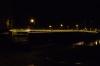 Hammersmith Bridge at night GB