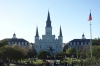 St Louis Cathedral and Andrew Jackson Square, New Orleans LA USA