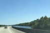 Driving through the Mississippi River Delta near new Orleans LA