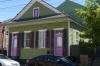 Coloured houses near Washington Square, New Orleans LA