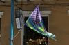 Gay USA flag on Decatur Street, New Orleans LA