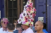 Easter hats on parade on Bourbon Street, New Orleans LA