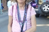 Thea's collection of beads (modest) after the Gay Easter Parade, New Orleans LA