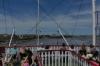 Natchez Paddle Steamer on the Mississippi River. New Orleans LA USA