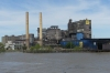Domino Sugar Mill from the Natchez Paddle Steamer, New Orleans LA USA