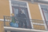"Fresque des Lyonnais representing great people in Lyon, incuding author of ""The Little Price"" Antoine de Saint-Exupéry"