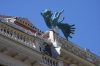 Like this statue - flying angel. Plaza Mayor, Madrid ES