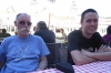 Bruce & Hayden at lunch in the Plaza Mayor, Madrid. ES