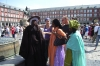 Africans in full dress in Plaza Mayor, Madrid. ES