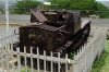 This tank was a gift from Mousselini. Parque Historico Nacional Loma de Tiscapa