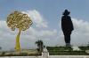 Sandino's silhouette and the Nicaraguan tree. Parque Historico Nacional Loma de Tiscapa