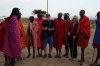 Bruce & Thea with the Masai warriors, Masaimara, Kenya