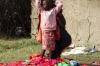 Playing dressups in the Masai Village, Masaimara, Kenya