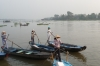 The women who rowed us on our early morning tour of fish farming and Cham village