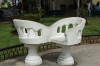 'Love seats' in every park. These in Parque Hidalgo