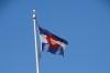 Colorado flag. Four Corners, Arizona, New Mexico, Colorado & Utah