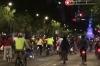 Pedal power on Saturday evening on p. de Reforma, Mexico City
