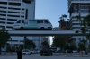The Metromover, free transport, Miami FL
