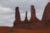 Three sisters. Monument Valley, AZ