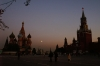 St Basil's Cathedral and Red Square in moonlight RU.