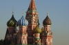 St Basil's Cathedral in evening sun, Red Square, Moscow RU.