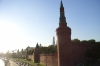 Outer walls of the Kremlin, by the Moskva River, Moscow RU.