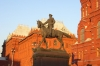 Entrance to Red Square in evening sunlight.  Moscow RU.
