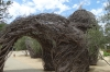 Vine cutting sculptures. Hall Vineyard, Napa Valley