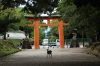 Gate to Kasuga Shrine, Deer enclosure, Nara Park, Japan