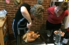 Carving the turkey, Thanksgiving in Harlem NY