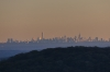 New York skyline from Bear Mountain, NY at sunset
