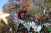 Finally, it's Santa Claus. Macy's Thanksgiving Day Parade around 65th Street, NY